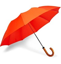 London Undercover Maple Wood Handle Telescopic Umbrella Orange