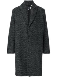 Levi's Made And Crafted Shawl Collar Coat Cotton Acrylic Polyester Wool Grey