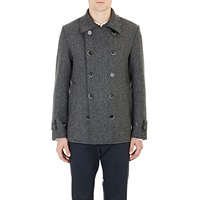 Raw Edge Brushed Twill Peacoat Gray