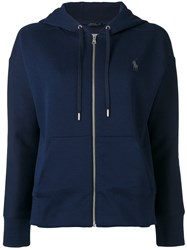 Polo Ralph Lauren Zipped Hoodie Blue