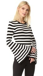 Milly Bell Sleeve Pullover Black White