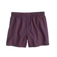 J.Crew Red Gingham Boxers Red Parker Gingham