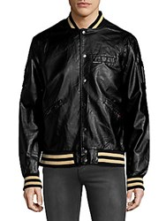 Members Only Rib Trimmed Bomber Jacket Black