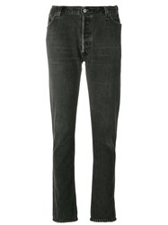 Re Done Straight Leg Skinny Jeans Cotton Grey