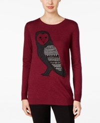 G.H. Bass And Co. Owl Graphic Sweater Heather Plum Gem Combo