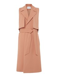Ivy And Oak Sleeveless Trench Coat With Belt Blush