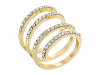 Guess Pave Wrap Ring Gold Crystal Ring