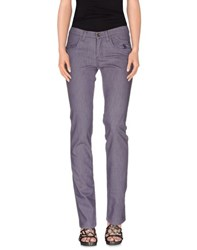 Jeckerson Denim Denim Trousers Women Lilac