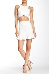 Donna Mizani Ruffled Mini Skirt White