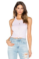 Stateside Slub 2X1 Rib Scoop Neck Tank Blush