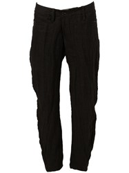 Lost And Found Creased Slim Trousers Black
