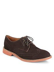 Cole Haan Air Franklin Suede Wingtip Oxfords Chestnut