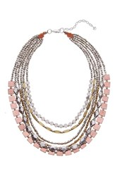 Nakamol Design Layered Mixed Metal Necklace Copper