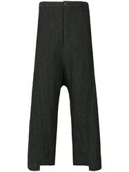 Individual Sentiments Asymmetric Cuff Trousers Black
