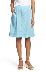 Eileen Fisher Women's Organic Linen Knee Length Skirt Windflower