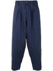 Costumein Japan Cropped Chinos Men Linen Flax 52 Blue