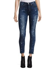 Mcguire Newton Micro Paint Splatter Skinny Jeans High Tide