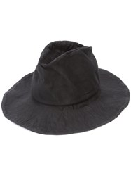 Reinhard Plank Creased Fedora Hat Black