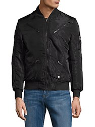 American Stitch Full Zip Bomber Jacket Black