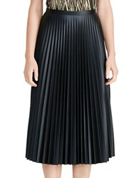 Lauren Ralph Lauren Colyn Pleated Midi Skirt Black