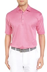 Bobby Jones Men's Ponce Pique Cotton Polo Persian Pink