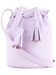 Building Block Mini Bucket Bag Women Leather One Size Pink Purple