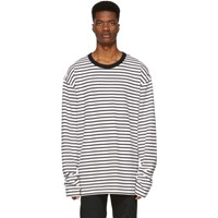 Diesel Black And Off White T Daichi Long Sleeve T Shirt
