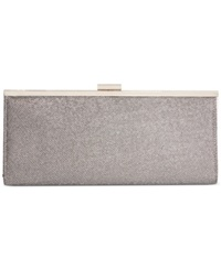 Style And Co. Carolyn Lurex Clutch Silver