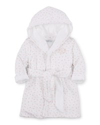 Ralph Lauren Childrenswear Hooded Floral Pima Robe White Size 3 9 Months Girl's Size 9 Months White Multi