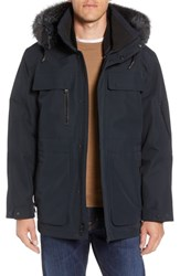 Andrew Marc New York Hamilton 3 In 1 Down Parka With Genuine Fox Fur Trim Black
