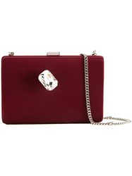 Stella Mccartney Jewel Embellished Clutch Red