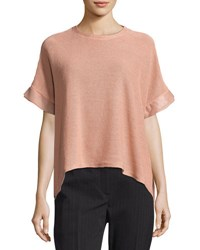 Brunello Cucinelli Dry Cotton Oversized Top Pink