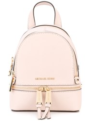 Michael Michael Kors Rhea Extra Small Backpack Women Leather One Size Pink Purple