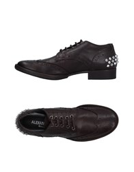 Alexandra Lace Up Shoes Dark Brown