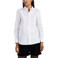 Saint Laurent Cotton Poplin Blouse White