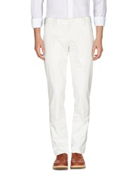 High Casual Pants White