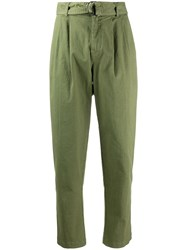 P.A.R.O.S.H. Denim Tapered Cropped Trousers 60