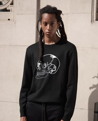 The Kooples Skull Embroidered Black Sweater