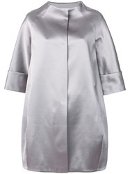 Gianluca Capannolo Cropped Sleeved Coat Grey