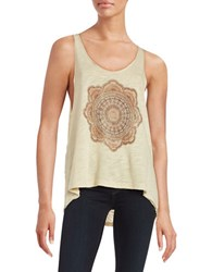 Project Social T Graphic Knit Tank Top Tea Stain