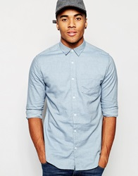 New Look Long Sleeve Twill Shirt Potteryblue