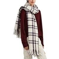 Denis Colomb Nara Plaid Cashmere Flannel Blanket Scarf Multi
