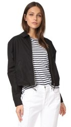 James Perse Batwing Bomber Jacket Black