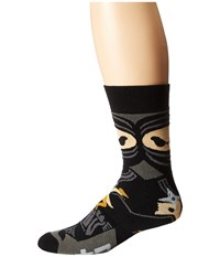 Neff Ninja Youth Snow Socks Black Men's Thigh High Socks Shoes