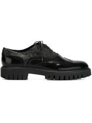 Alberto Guardiani Glitter Panel Brogues Black