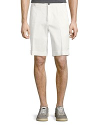 Brunello Cucinelli Gabardine Turn Up Bermuda Off White