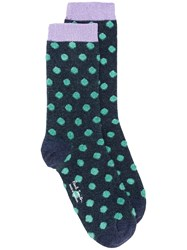 Paul Smith Ps By Polka Dot Socks Blue