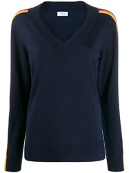 Akris Punto Side Stripe Relaxed Fit Jumper 60