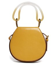 Marni Melville Leather Cross Body Bag Yellow