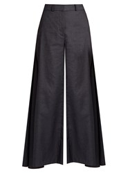 Peter Pilotto High Rise Wide Leg Trousers Indigo